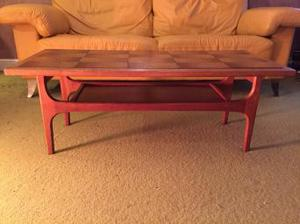 Teak tile topped coffee table Retro Vintage Danish style
