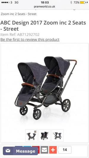 Twin pushchair abc design zoom