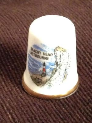 BEACHEY HEAD EASTBOURNE collectable thimble