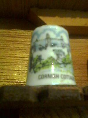 CORNWALL COTTAGES collectable thimble