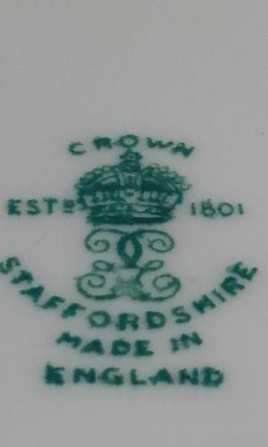 Crown Staffordshire Saucer