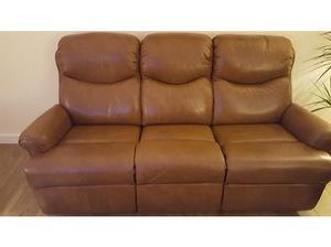 Leather recliner sofa in Prestonpans
