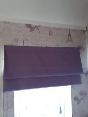 Lilac Roman Blind