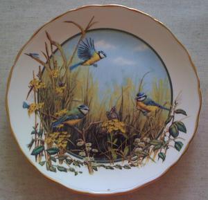 Royal Doulton Collector Plate - A Merriment of Bluetits