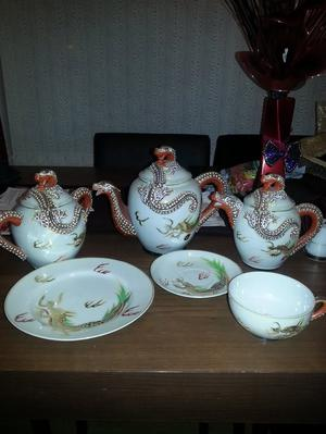 VINTAGE MANNA CHINA JAPAN DRAGON TEA SET