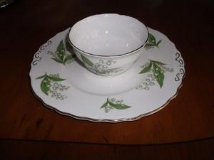 Vintage Royal ValeBone China Sugar Bowl & Plate