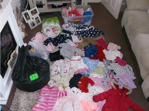 CARBOOT JOBLOT 4 BLACK BAGS FULL MIXED BABY CLOTHES in West