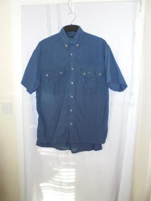 Craghoppers Mens Size S Dark Blue Short Sleeve Shirt