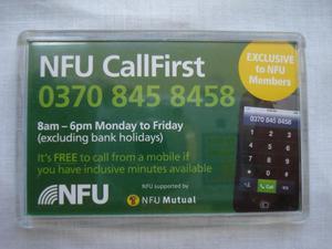 NEW NFU (NATIONAL FARMERS UNION) FRIDGE MAGNET