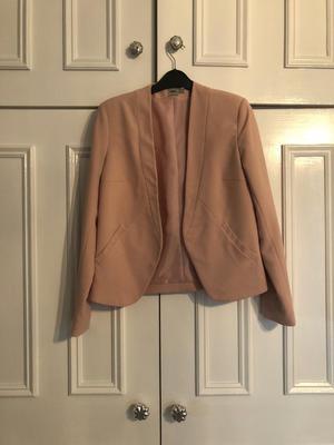 Pink size 8 blazer ASOS