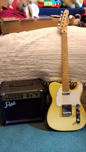 Rockwood (Hohner) telecaster guitar & Park (Marshall) amp