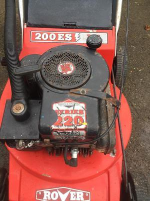 Rover push mower with box