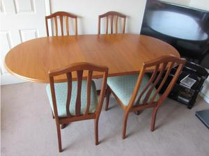Sutcliffe extending dining table and 4 chairs. in Exmouth