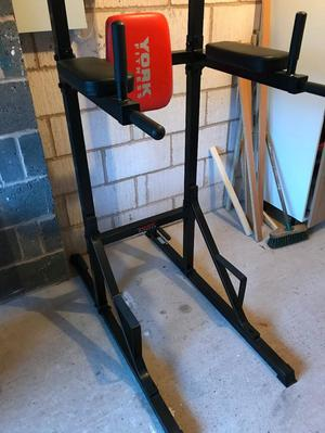 York Fitness Workout Tower/Chin up Bar Free Standing