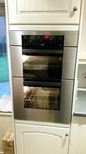 zanussi Multifunction Digital built in double electric oven