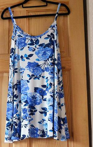 Blue & White flowery dress