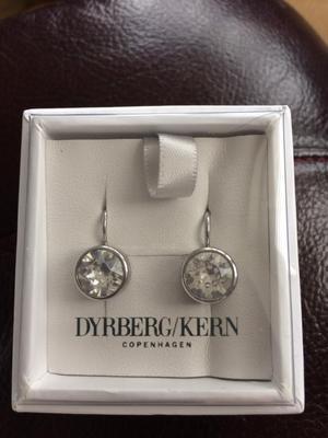 Dyrberg /Kern Louise Swarovski crystal earrings.