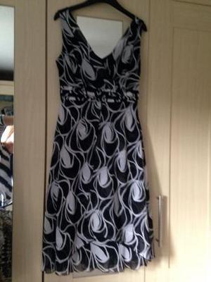 Ladies black/white Debenhams size 12 dress