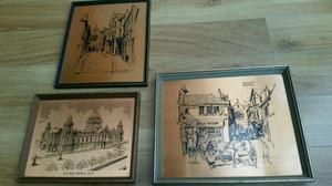 Vintage Copper Craft Belfast Etchings