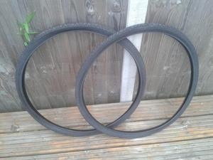 2 x 700c x 38 TYRES FOR HYBRID/TOWN/ROAD BIKE