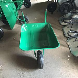 65L Green Medium Duty Garden Wheelbarrow with Galvanised Pre
