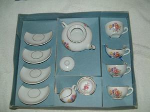 Childs China Tea Set, still in the box as purchased, dates back to the 's. Never used,