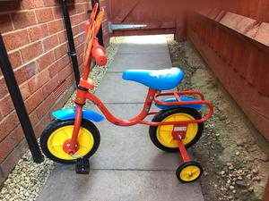 "Disney Mickey Mouse 10"" kids bike with stabilisers"