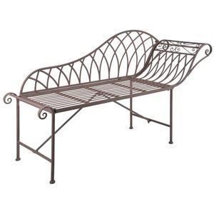 Esschert Design Chaise Longue Garden Outdoor Metal Old