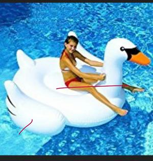 """MarlJohns Giant Rideable Swan Inflatable Float Toy 76"""""""