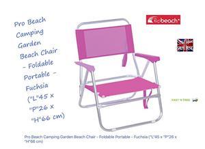PRO BEACH CHAIR CAMPING GARDEN 45CM DEPTH X 25CM SEAT HEIGHT