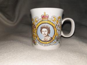 Queen Elizabeth II Silver Jubilee Mug - Collectible