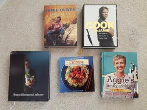Various Cooking Books, Jamie Oliver, Heston Blumenthal