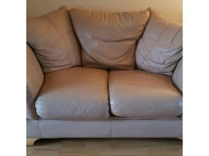 2 x two seater leather sofas in Leeds