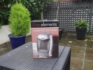 Fan Heater NEW Fine Elements W PTC Ceramic & Fan Heater - Silver