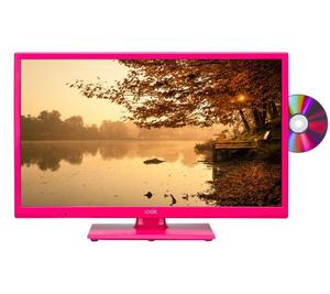 "LOGIK L24HEDP"" PINK LED TV DVB-T FREEVIEW TUNER HDMI"