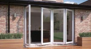 New 4 Door Bi Folding Door Glazed