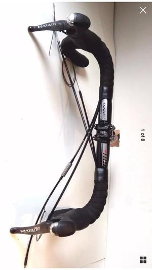 Shimano Ultegra ST  speed shifters, FSA stem, Fsa Wilier handlebars with Jagwire cables
