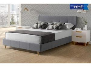 Buy Elegant Lucia Fabric Double Bed Frame Online at