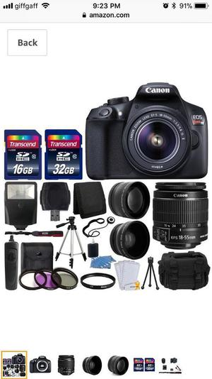 Canon EOS Rebel T6 Digital SLR Camera+bundle
