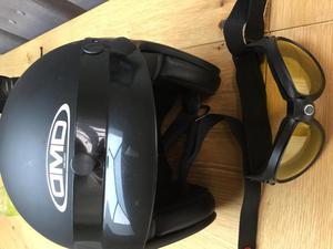 Matt black bikers helmet