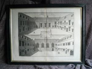 Pair engravings Lincoln College Oxford
