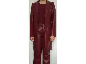 Beautiful faux leather snake skin affect trouser and jacket