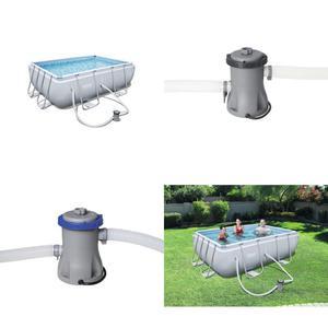 Bestway Power Steel Rectangular Swimming Pool,  Litres,