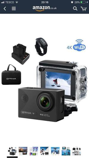 Brand new 4K action sports cam with aload of accessories