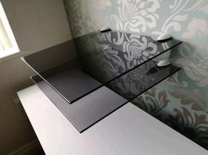 Glass Wall Shelves X 2 Ikea Ljusdal Banstead Posot Class