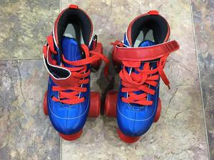 SIZE 13 Roller Skates Blue and Red