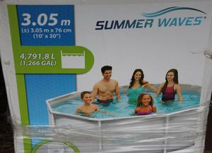 SUMMER WAVES LARGE STEEL FRAME SWIMMING POOL