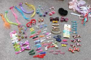 collection of hair bands and clips