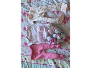 Baby girl clothing newborn vest 20p, tights 20p, pants 30p,