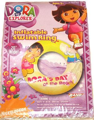 """DORA Inflatable Swimming Ring 20"""" / Pool Toys NEW!"""